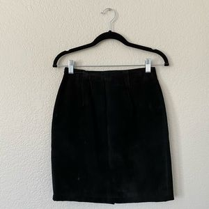 Forenza Black Leather Pencil Skirt
